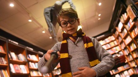 Harry Potter book night at Waterstones, Norwich. PICTURE: Jamie Honeywood