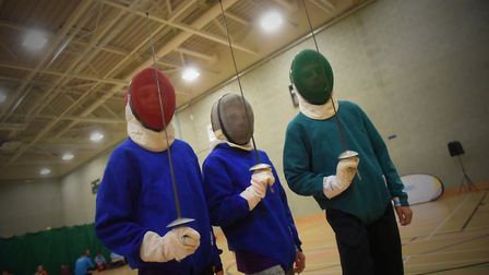 Pupils taking part in the the Norfolk Winter Games taster session at UEA Sportspark, Norwich. PICTUR