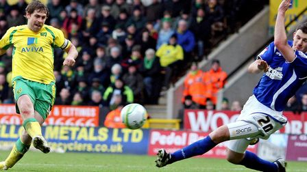 Grant Holt was one of the key men powering Norwich City's rise under Paul Lambert. Picture: Chris Ra