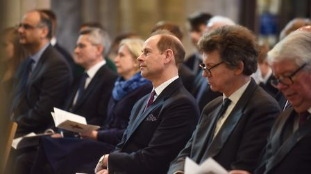 A memorial service is held in the Cathedral for the former Bishop of Norwich, The Right Reverend Pet