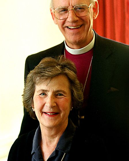 The Rt Rev Peter Nott, former Bishop of Norwich, with his wife Betty at the Bishop's Palace, shortly