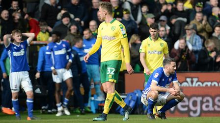 Ipswich's Cole Skuse has suffered plenty of derby disappointments Picture Pagepix