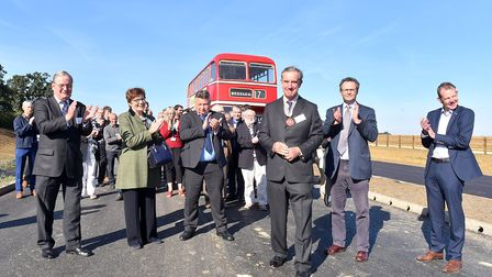 Robert Rous, Vice Lord Lieutenant of Suffolk opens the new £7m Beccles Southern Relief Road.Picture