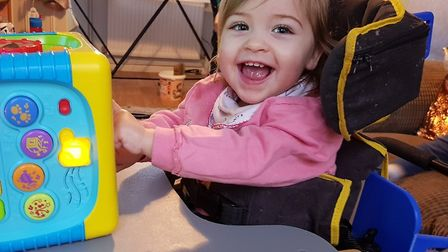 Maggie O'Halloran has cerebral palsy which means she struggles to walk, can't go to the toilet by he