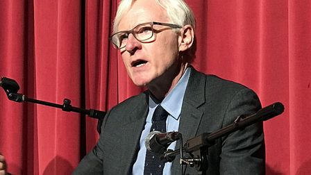 MP Norman Lamb answering questions from the public. Picture: Victoria Pertusa