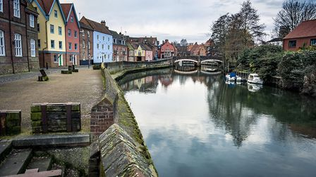 A riverside walk on the river Wensum in central Norwich. Picture: Getty