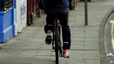Calls have been made for more to be done to stop cyclists riding on pavements. Photo: Bill Smith