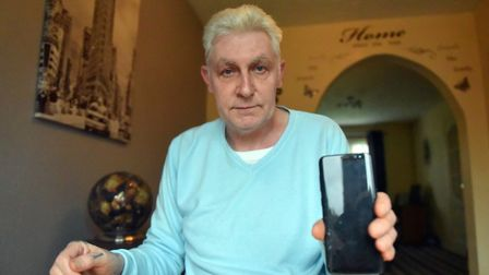 David Cossey is looking for someone who could help unlock his son's phone. PICTURE: Jamie Honeywood