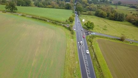The existing stretch of the A140 near Long Stratton where a new roundabout will be built. Photo: Nor