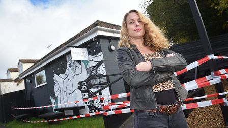 Kerry Radley, former owner of Radley's cafe and shop in Salhouse, which is now closed. Picture: ANTO