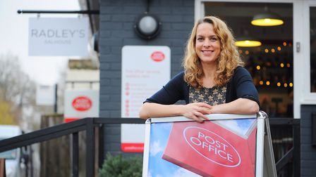 Kerry Radley outside her coffee shop in 2014. Picture: James Bass