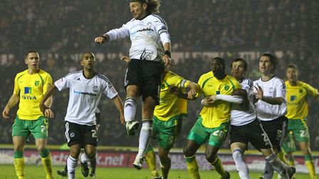 Robbie Savage in action for Derby against Norwich in 2010. (Pic by Paul Chesterton/Focus Images)