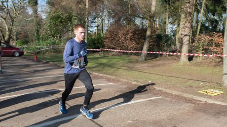 Mark Armstrong heads for the finish line. Picture: Alison Armstrong