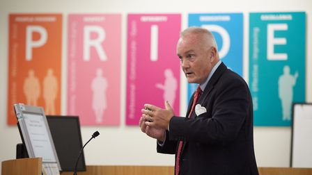Mark Davies, outgoing chief executive of the Norfolk and Norwich University Hospital. Photo: NNUH