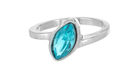 Blue marquise engagement ring from Poundland. Photo: Suppled by Talker Tailor