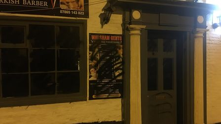 Shop fronts in North Walsham's Market Street and Market Place were vandalised with spray paint. Pict
