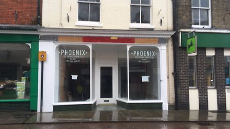 Phoenix Vape in Market Square on Sunday, February 10. The paint that had been sprayed onto shops aro
