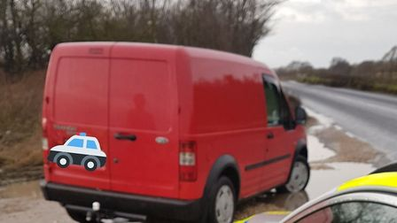 Police arrested the driver of this van for having no licence and for drug driving. Picture: Norfolk