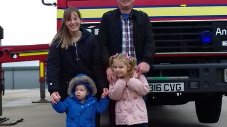 Harry loves fire engines, ambulances and planes. From Left clockwise, Carly Howes, Ali Deeba. Isobel