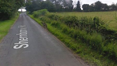 A man has claimed he was assaulted by a gamekeeper on Shernborne Road in Dersingham. Picture Google.