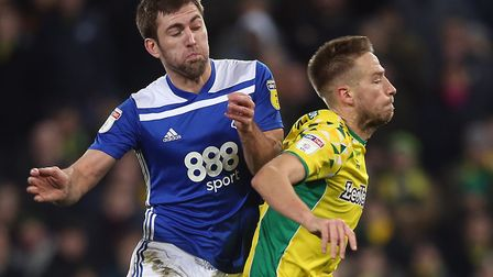 Marco Stiepermann is fouled by Gary Gardner during Norwich City's impressive win over Birmingham Pic
