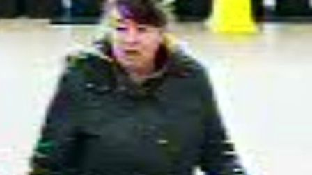The woman police want to speak to about a stolen wallet Picture: Norfolk Constabulary
