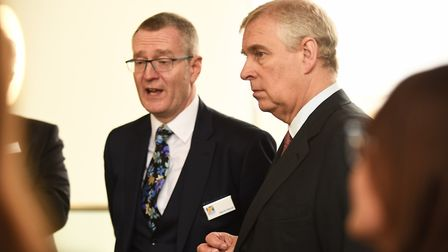 Chief executive of Nwes Kevin Horne showing The Duke of York around the KLIC. Picture: Ian Burt