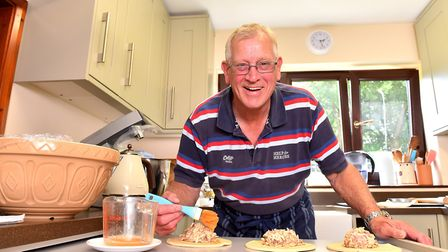 David Brown is celebrating 10 years of selling homemade cakes for Armed Forces day.Picture: Nick But