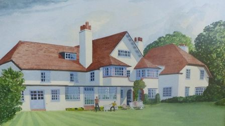A painting of Overstrand Court Hotel in its heyday in the 1950s-1980s. Picture: CONTRIBUTED