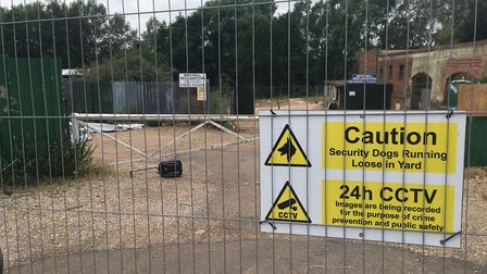 The former reclamation yard in Oak Street where homes will be built. Pic: Archant.