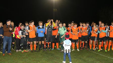 Denver Clinton at a charity football game last year at Aldiss Park in Dereham. Picture: Alan Palmer