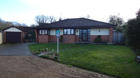 This detached bungalow in Blofield is currently on the market for £325,000. Picture: CONTRIBUTED