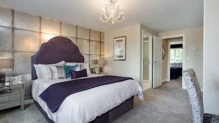 Master suite in the Oxford style home. Picture: Lee Pilkington/Bovis Homes