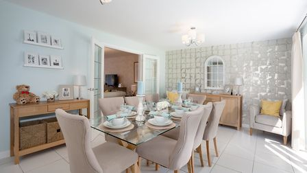 Dining area at Bovis' Oxford-style home. Picture: Lee Pilkington/Bovis Homes