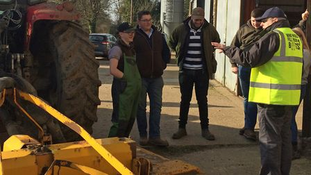 Students were shown the potential dangers of a farming career during a health and safety course at E