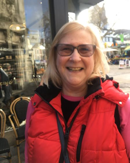 Vox pop in Norwich on whether GCSEs should be scrapped. Mary Osborne, 59, from Norwich. Picture: Jam