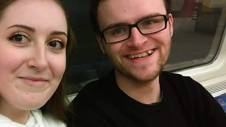 """Nick Sadler with his sister, Lauren. Nick has been described as """"the sweetest guy you could ever mee"""