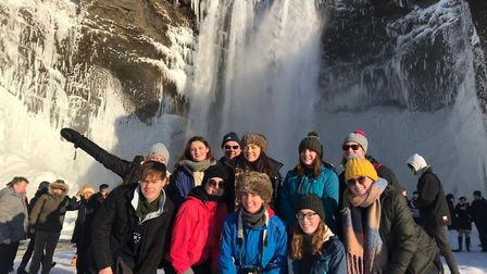 Wymondham College and Bungay High School students visited Iceland together. Photo: Wymondham College
