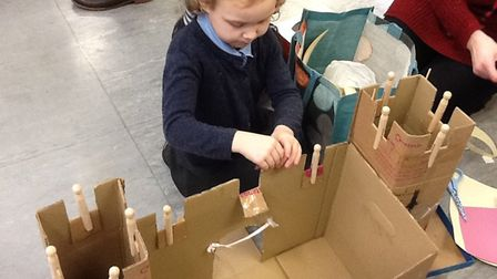 Brooke VC CE Primary School pupils in Robin class and their families have been building castles. Pho
