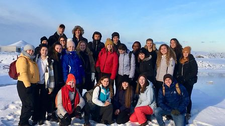 Bungay High School and Wymondham College students visited Iceland together. Photo: Bungay High Schoo