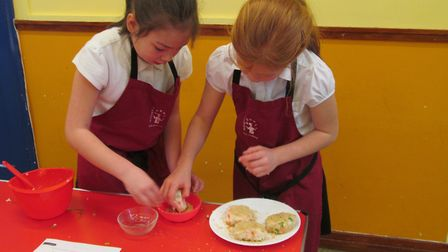 Fairhaven Primary School children have been making fishcakes and sushi in their cookery lessons. Pho