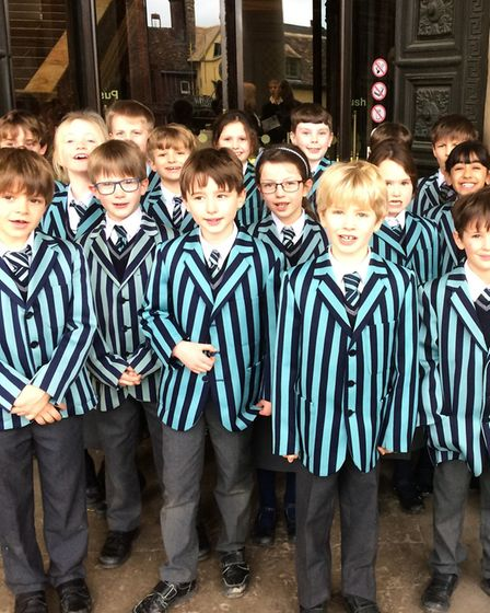 Year 3 at Old Buckenham Hall School visited the Fitzwilliam Museum in Cambridge to learn about the E