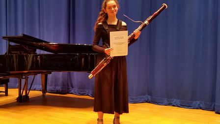 Bassoonist Joanna Asher, a Year 12 student at City of Norwich School has won the Norfolk & Norwich C