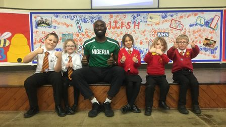 Vally Primary Academy students raised £750 for British athletes during their sponsored athletics cir