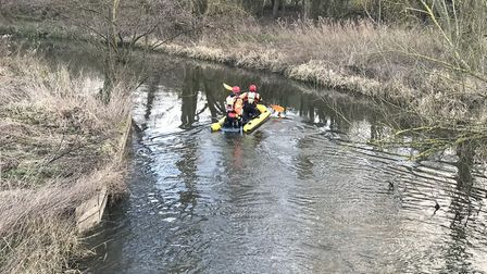 Emergency service teams continue to search the lake at the UEA