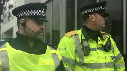 Behind the scenes with Norfolk Police during Norwich v Ipswich derby day. Photo: Victoria Pertusa.
