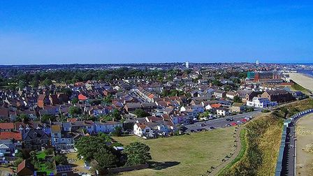 Mr Ford has been using his drone to capture the aerial shots since last year, including this sunny v