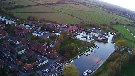 """The photographer purchased a """"cheap"""" drone last year and started taking these shots around Waveney."""