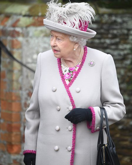 Queen Elizabeth II attends the Christmas Day morning church service at St Mary Magdalene Church in S