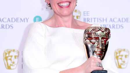 Olivia Colman with her Best Actress in a Leading Role Bafta for The Favourite at the 72nd British Ac